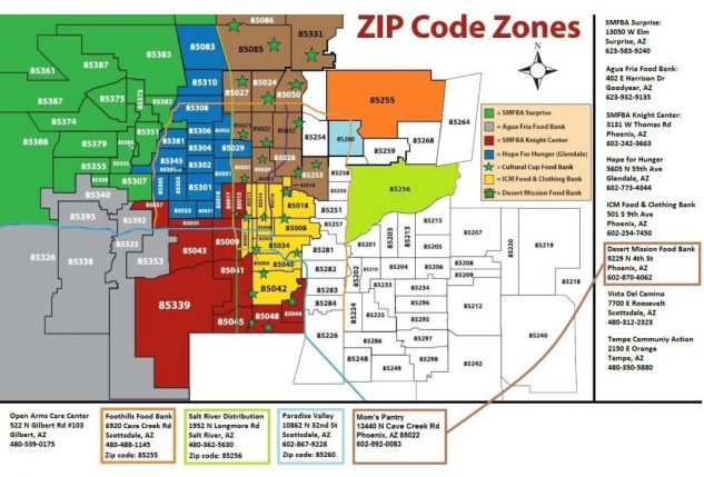 Phoenix Zip Code Maps - Phoenix PHX on